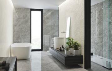 Balmoral Grey 30 x 90 cm. Balmoral Silver 30 x 90 cm. Dune Balmoral Silver 30 x 90 cm. Pavimento Balmoral Grey 60 x 60 cm.