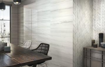 Riverdale white 30 x 90 cm. Riverdale ANDEN white 30 x 90 cm. Pavimento  Riverdale white 60 x 60 cm.
