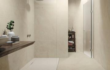 Cream Chamber 59x120 cm. Pavimento Cream Chamber 120x120 cm.