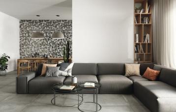 Monocolor Blanco Pulido 260x120 cm. Monocolor Neutral Pulido 260x120 cm. Grafton Grey 80x80 cm.