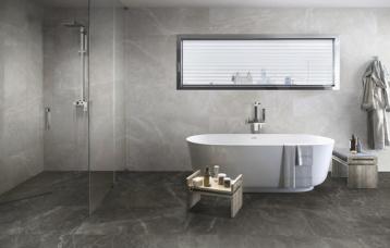 Bayona Silver natural 39x119 cm. Pavimento Bayona Grey natural 39x119 cm.