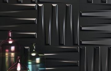 Dutton Black Satin 25 x 25 cm
